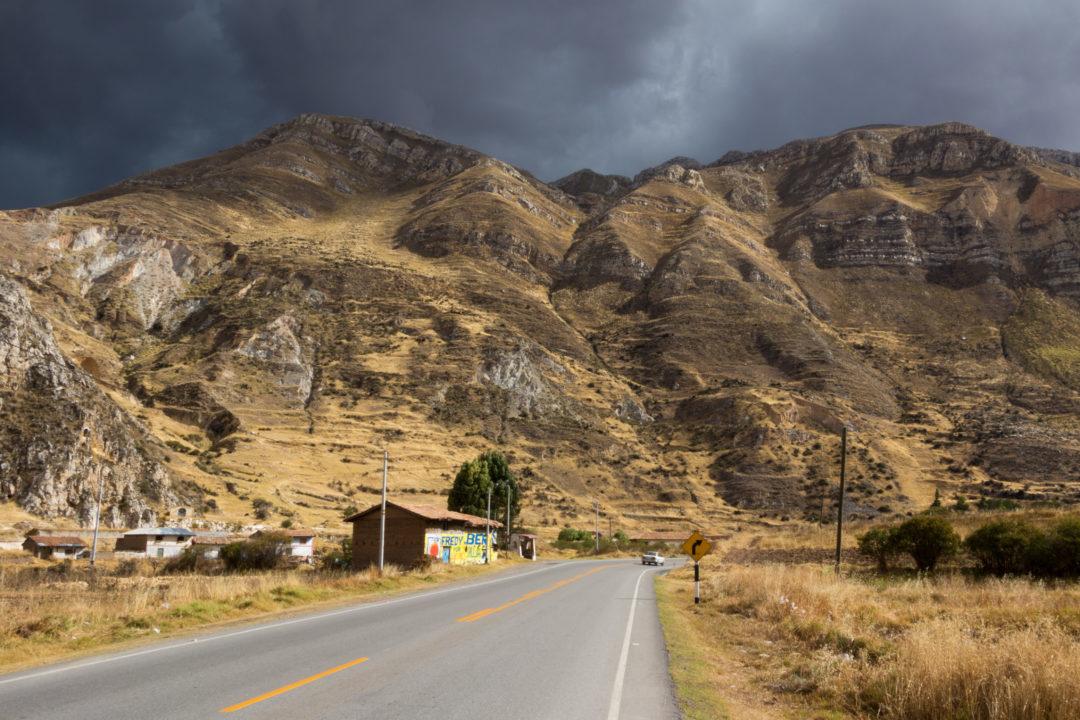 Entre Huancayo et Cerro de Pasco - Route