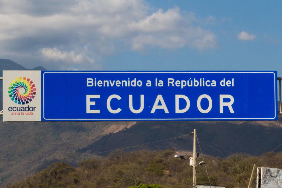 Arrivée en Equateur