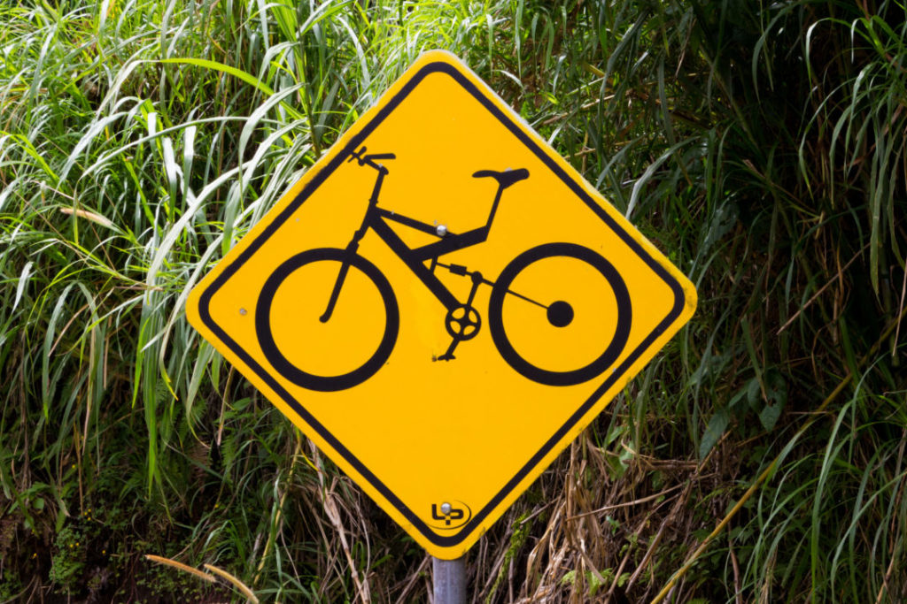 Baños - Panneau vélo
