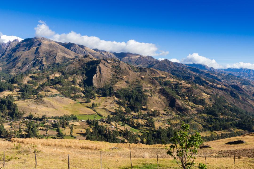 Chacas - Vue sur les montagnes