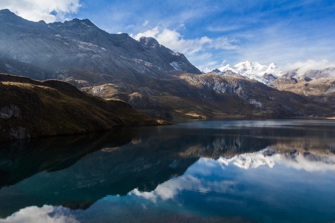 Cordillera Huayhuash - Lagune après le col