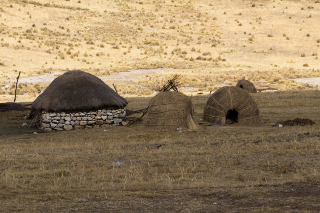 Cordillera Huayhuash - Maisons traditionnelles