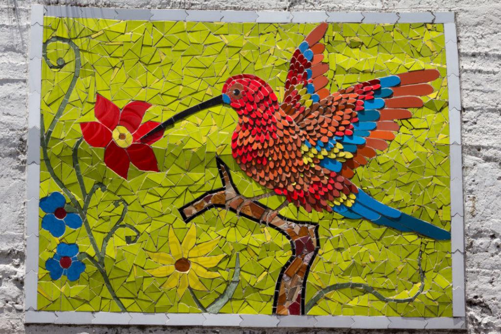 Entre Riobamba et Baños - Mosaique colibri
