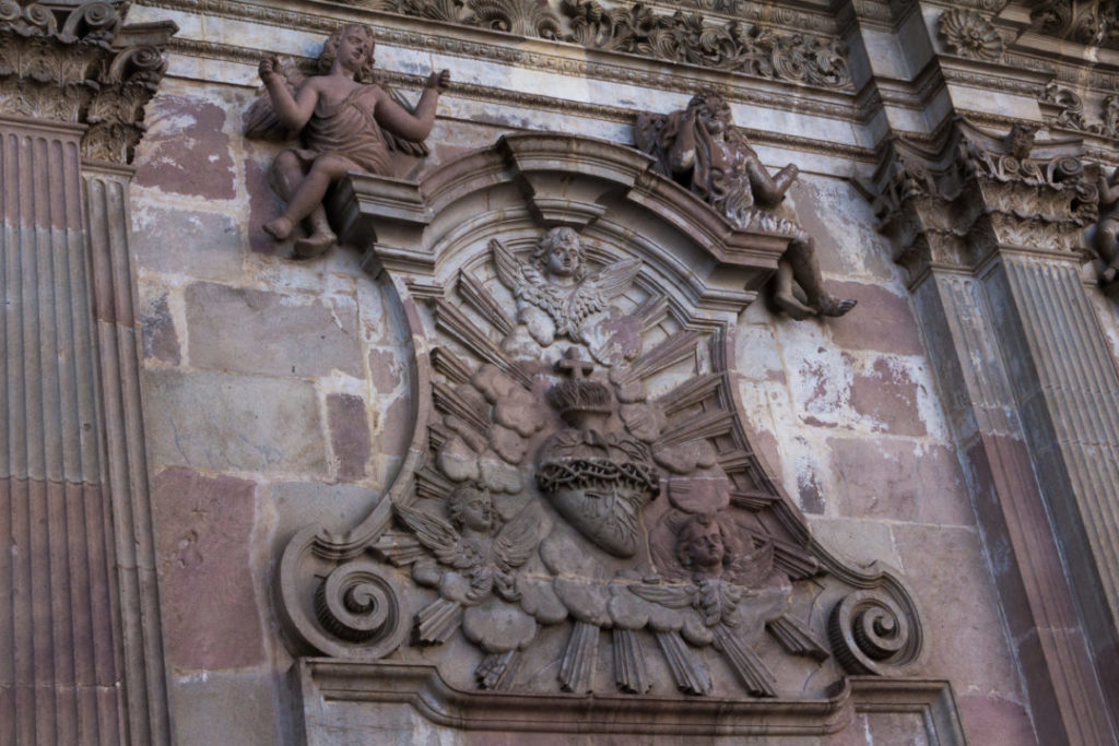 Quito - Détail de la façade de l'église de la Compagnie de Jésus