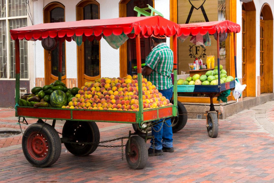Chiquinquira - Vendeur de fruits