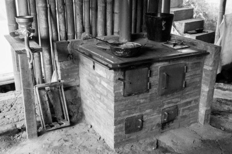 Finca Don Elias - Cuisinière à bois pour la torréfaction