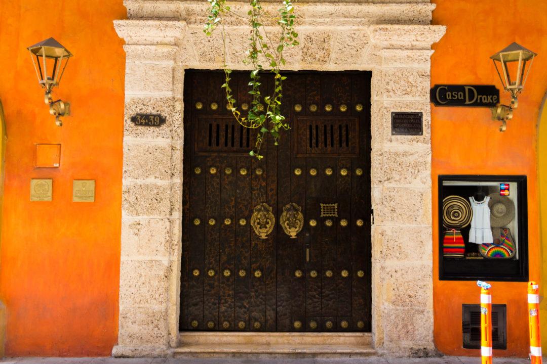 Carthagène - Porte orange