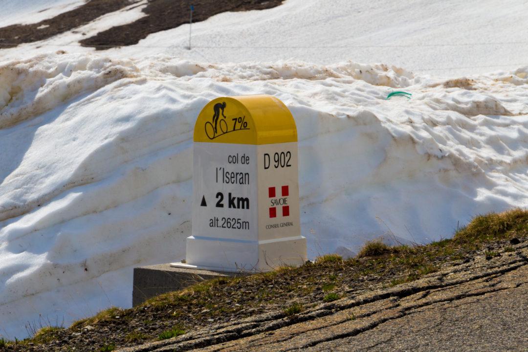 Col de l'Iseran - Borne kilométrique